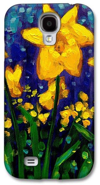 Dancing Daffodils Cropped  Galaxy S4 Case by John  Nolan