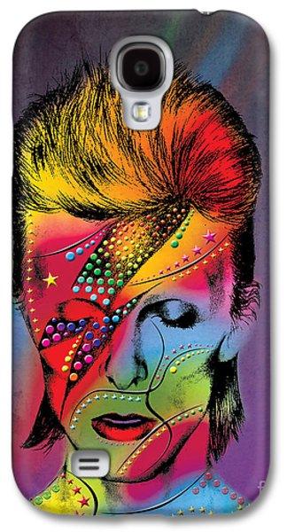 Abstract Digital Art Galaxy S4 Case - David Bowie by Mark Ashkenazi