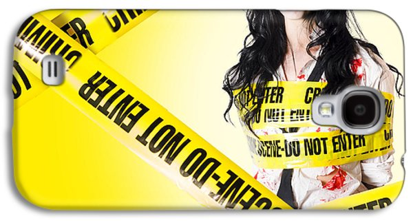 Dead Zombie Wrapped In Tape At Crime Scene Galaxy S4 Case by Jorgo Photography - Wall Art Gallery