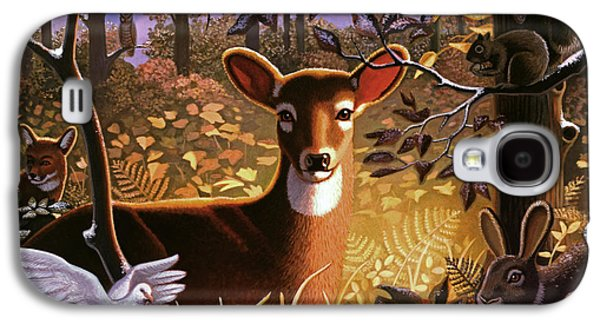 Deer In The Forest Galaxy S4 Case by Robin Moline