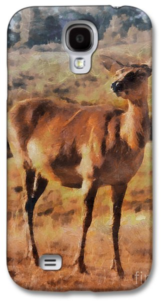 Deer On Mountain  Galaxy S4 Case by Pixel Chimp