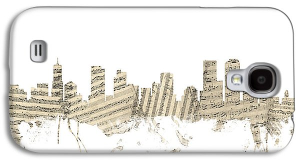 Denver Colorado Skyline Sheet Music Cityscape Galaxy S4 Case by Michael Tompsett
