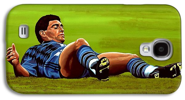 Diego Maradona 2 Galaxy S4 Case by Paul Meijering