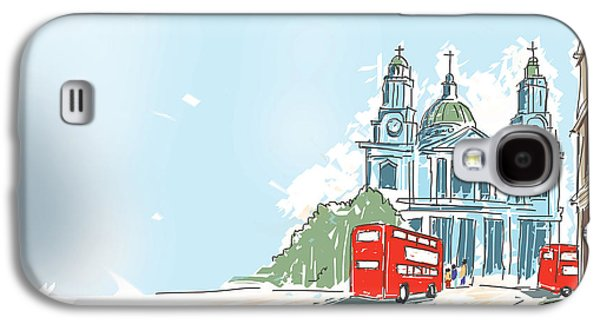 Digital Illustration St Paul Cathedral London Uk Galaxy S4 Case by Jorgo Photography - Wall Art Gallery