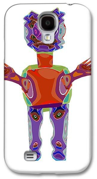 Duckelle Cartoon Character  Alien Monster Art Graphic Design Digital Complex Funny Comic Collage Col Galaxy S4 Case by Navin Joshi
