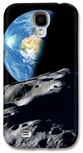 Earth And Asteroid Galaxy S4 Case by Detlev Van Ravenswaay