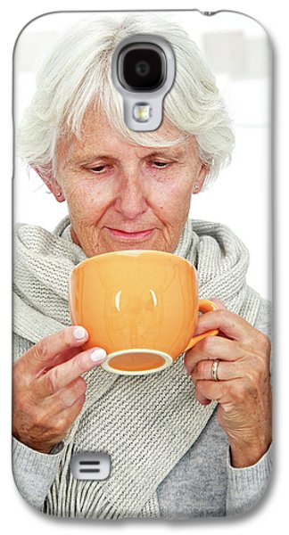 Elderly Woman With A Hot Drink Galaxy S4 Case