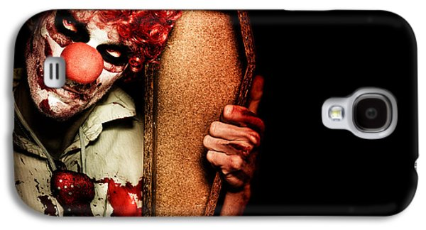 Evil Horrible Clown Holding Coffin In Darkness Galaxy S4 Case by Jorgo Photography - Wall Art Gallery