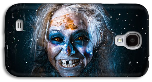 Evil Winter Monster Smiling Beneath Falling Snow Galaxy S4 Case