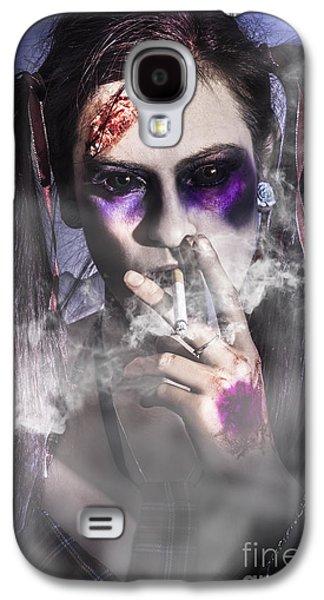 Evil Zombie Schoolgirl Smoking Cigarette Galaxy S4 Case by Jorgo Photography - Wall Art Gallery