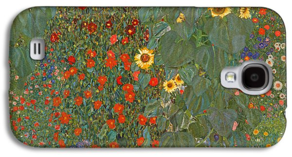 Sunflower Galaxy S4 Case - Farm Garden With Sunflowers by Gustav Klimt