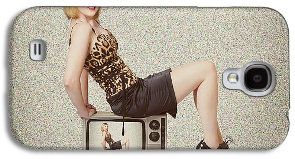 Female Television Show Actress On Old Tv Set Galaxy S4 Case