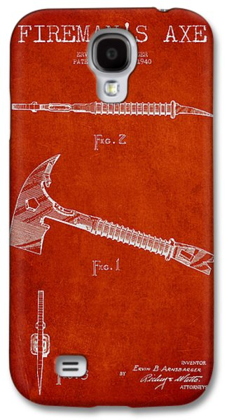 Fireman Axe Patent Drawing From 1940 Galaxy S4 Case by Aged Pixel