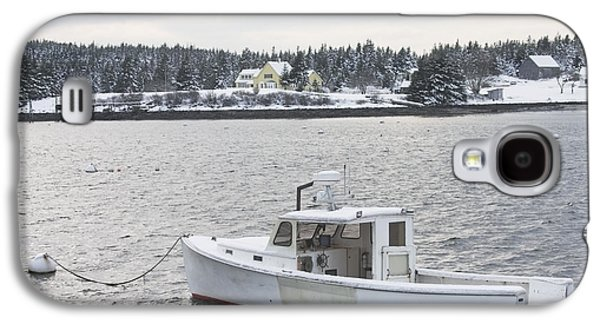 Fishing Boat After Snowstorm In Port Clyde Harbor Maine Galaxy S4 Case
