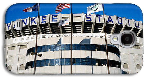 Flags In Front Of A Stadium, Yankee Galaxy S4 Case by Panoramic Images