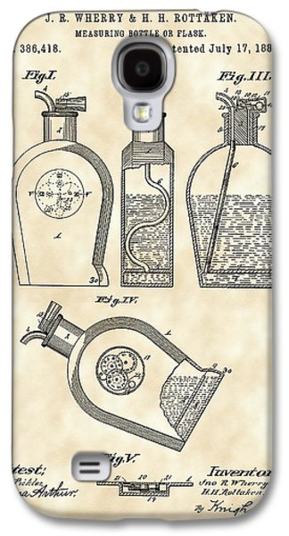Flask Patent 1888 - Vintage Galaxy S4 Case by Stephen Younts