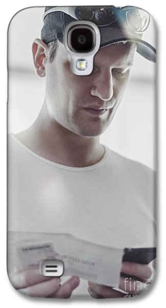 Flight Passenger At Airport Check-in With Mobile Galaxy S4 Case by Jorgo Photography - Wall Art Gallery