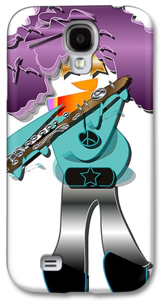 Galaxy S4 Case featuring the digital art Flute Player by Marvin Blaine