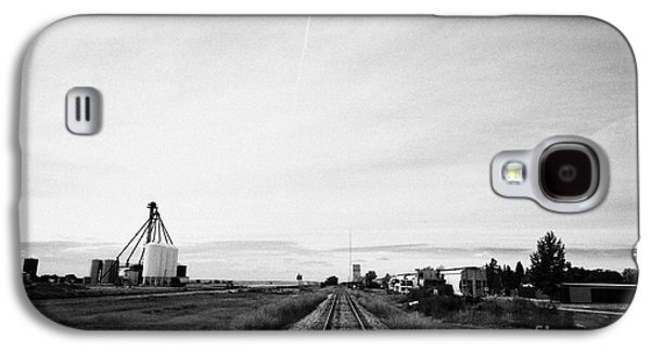former canadian pacific railway now great sandhills railway through leader Saskatchewan Canada Galaxy S4 Case