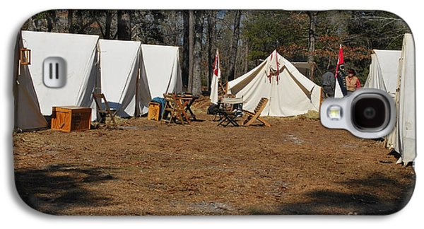 Confederate Encampment At Fort Anderson 1 Galaxy S4 Case by Jocelyn Stephenson