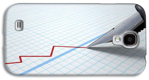 Fountain Pen Drawing Declining Graph Galaxy S4 Case