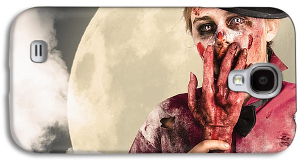 Full Moon On A Scary Halloween Night Galaxy S4 Case by Jorgo Photography - Wall Art Gallery