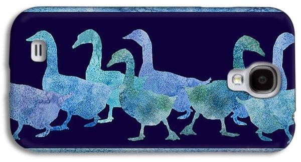 Geese Batik Galaxy S4 Case by Jenny Armitage