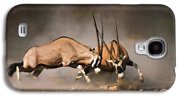 Gemsbok Fight Galaxy S4 Case by Johan Swanepoel