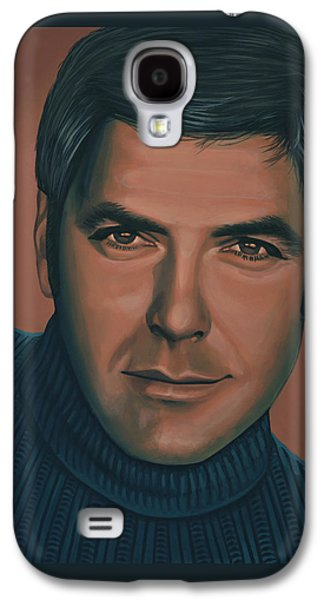 George Clooney Painting Galaxy S4 Case