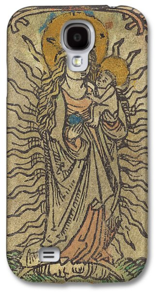 German 15th Century, Madonna And Child In A Glory Standing Galaxy S4 Case