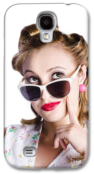 Glamorous Woman In Sunglasses Galaxy S4 Case