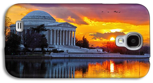 Jefferson Memorial Galaxy S4 Case - Glow by Mitch Cat