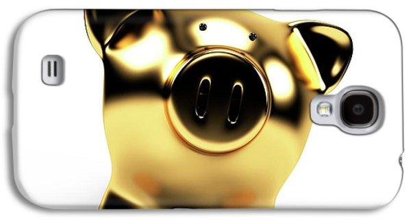 Gold Piggy Bank Galaxy S4 Case by Sebastian Kaulitzki