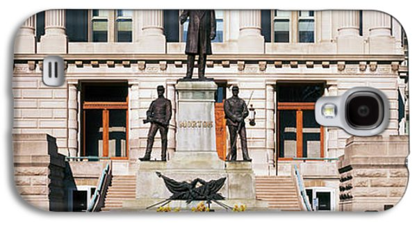 Governor Oliver Morton Monument Galaxy S4 Case by Panoramic Images