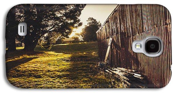 Green Farm Paddock Landscape. Outback Australia Galaxy S4 Case