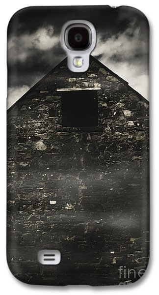 Halloween House Of Horrors. Scary Stone Building Galaxy S4 Case