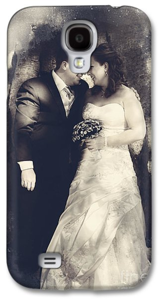 Happy Bride And Groom In A Wedding Romance Galaxy S4 Case by Jorgo Photography - Wall Art Gallery