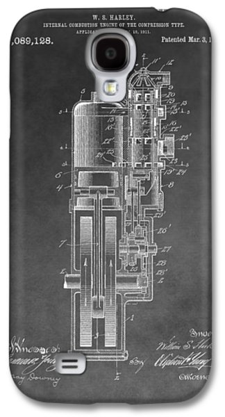 Harley Davidson Engine Patent Galaxy S4 Case by Dan Sproul