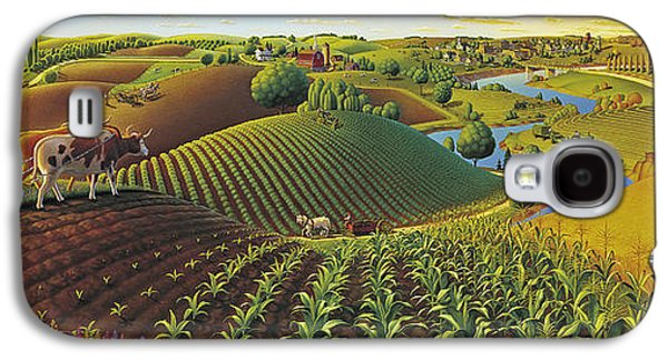 Rural Scenes Galaxy S4 Case - Harvest Panorama  by Robin Moline