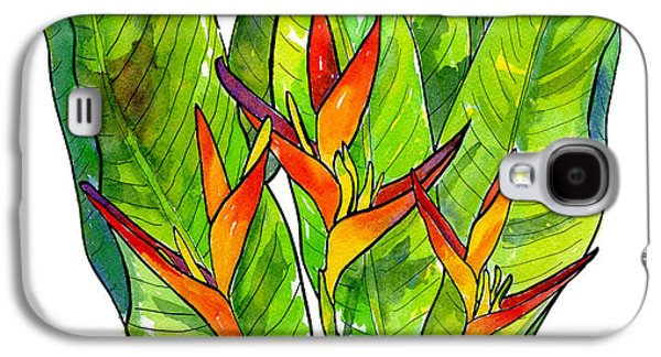 Heliconia Galaxy S4 Case by Diane Thornton