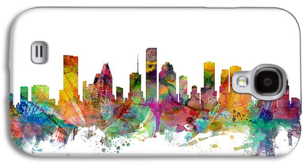 Houston Texas Skyline Galaxy S4 Case by Michael Tompsett