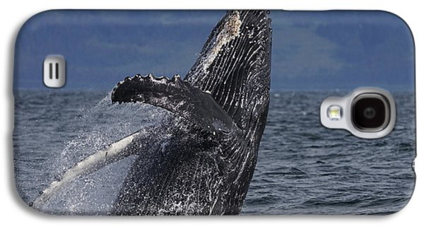 Humpback Whale Breaching Prince William Galaxy S4 Case by Hiroya Minakuchi