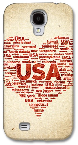 I Love Usa Galaxy S4 Case by Aged Pixel
