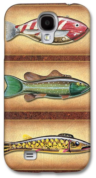 Ice Fishing Decoys Galaxy S4 Case by JQ Licensing