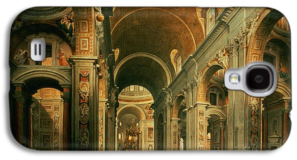 Interior Of St Peters In Rome Galaxy S4 Case by Giovanni Paolo Panini