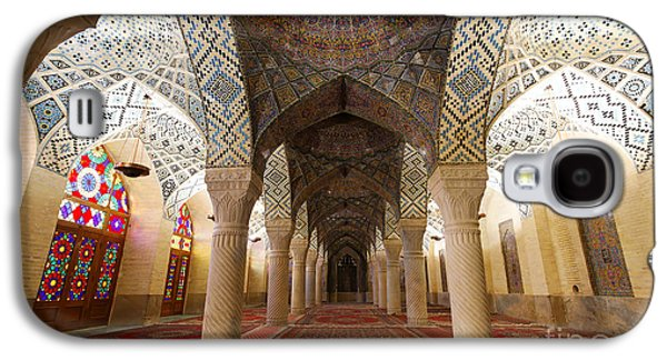 Interior Of The Winter Prayer Hall Of The Nazir Ul Mulk Mosque In Shiraz Iran Galaxy S4 Case by Robert Preston