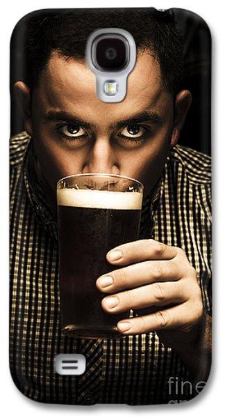 Irish Man Drinking Beer On St Patricks Day Galaxy S4 Case