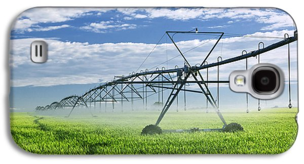 Irrigation Equipment On Farm Field Galaxy S4 Case by Elena Elisseeva