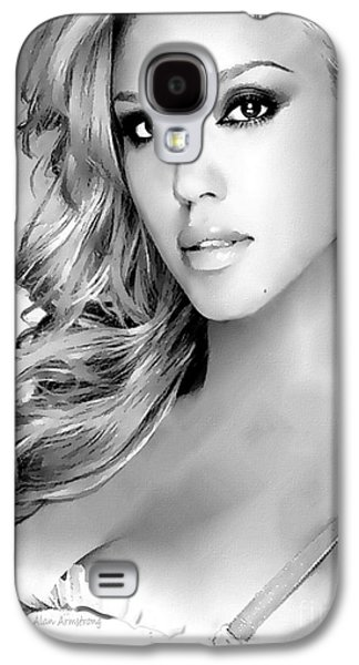 #1 Jessica Alba Galaxy S4 Case by Alan Armstrong