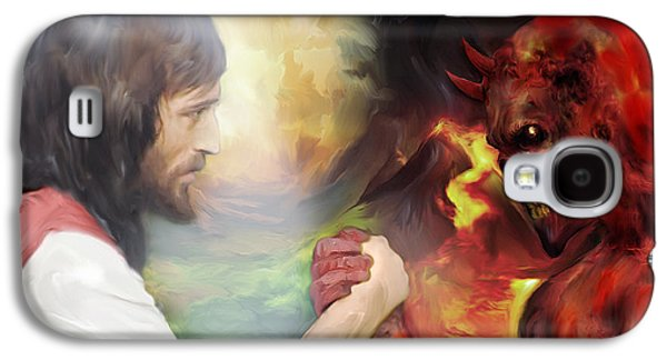 Jesus Vs Satan Galaxy S4 Case by Mark Spears